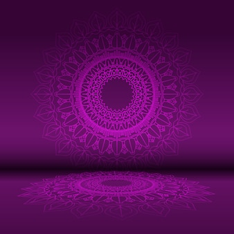 Abstract mandala design background