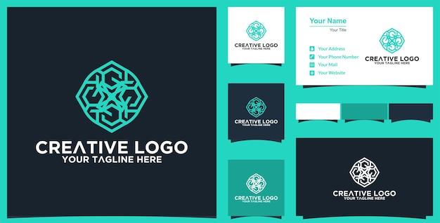 Абстрактный цветочный векторный дизайн мандалы элегантный премиум орнамент векторный логотип и визитная карточка