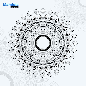 Abstract mandala lineart illustration