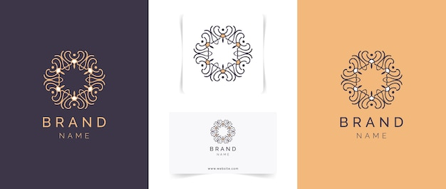 Abstract mandala logo design.