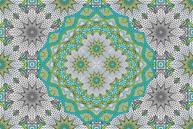 抽象的な曼荼羅シームレスパターン