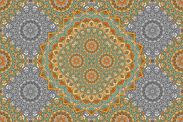 추상 만다라 원활한 패턴