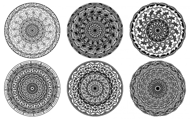 Abstract mandala set