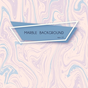 Abstract marble background in pastel pink and blue colors.