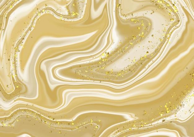 キラキラの金の要素のデザインと抽象的な大理石の背景