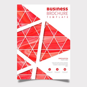 Abstract Marble Business Brochure Design
