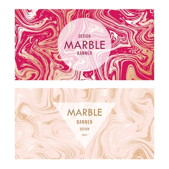 Abstract marble design invitation or greeting card.