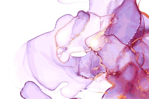 반짝이와 알코올 잉크 동양 기술의 추상 대리석 질감
