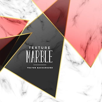 Abstract marble texture with geometric shapes