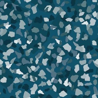 緑の背景に抽象的な大理石の壁紙。テラゾシームレスパターンデザイン。天然石、花崗岩、石英の形。岩の背景のテクスチャ。ベクトルイラスト
