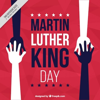 Abstract martin luther king day background with hands together