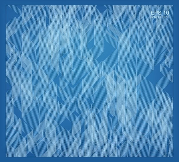 Abstract matrix wireframe space of building. perspective wireframe background. vector 3d illustration.