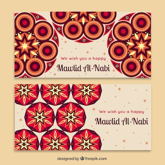 Abstract mawlid banners