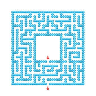 Abstract maze. game for kids. puzzle for children. cartoon style. labyrinth conundrum.