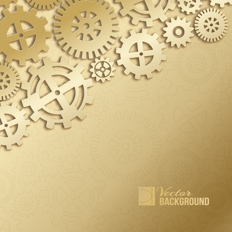Abstract mechanical gears background.