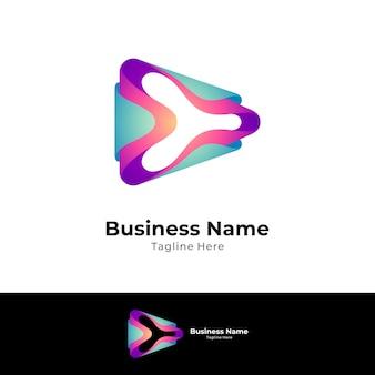 Abstract media play logo