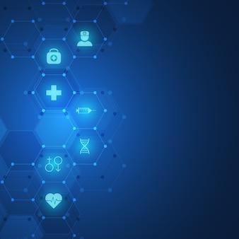 抽象的な医学的背景、医療技術、革新医学、健康、科学、研究のアイデア。