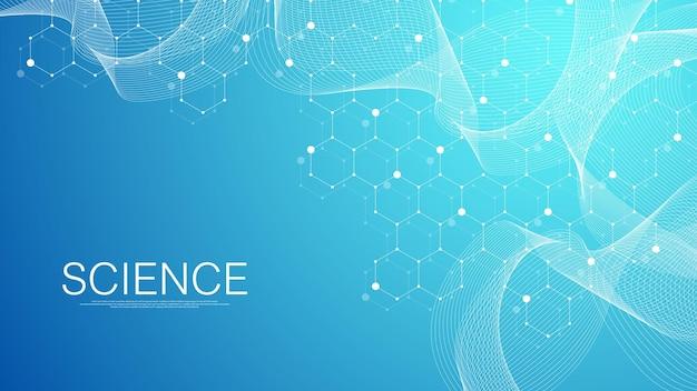 추상 의료 배경 과학 및 연결 개념