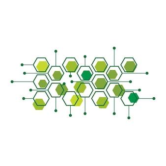 Абстрактный медицинский фон вещество и дизайн молекул