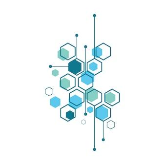 추상 의료 배경 물질 및 분자 디자인
