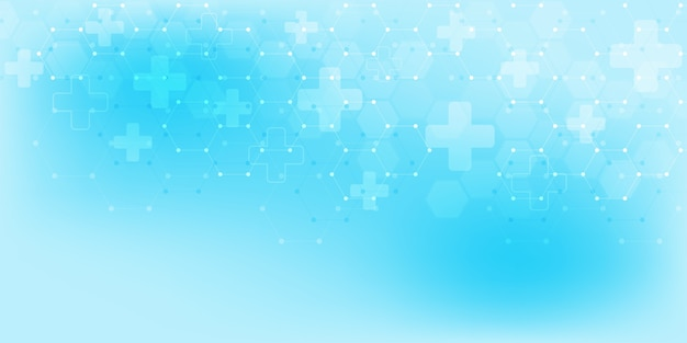 Abstract medical background with hexagons pattern
