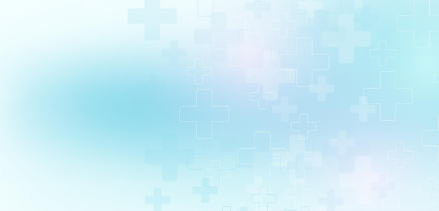 Abstract medical and science healthcare blue banner