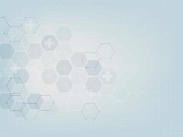 Abstract medical wallpaper template design