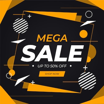 Abstract mega sale background