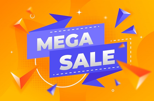 Abstract mega sale banner