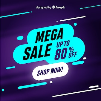 Abstract mega sale banners concept