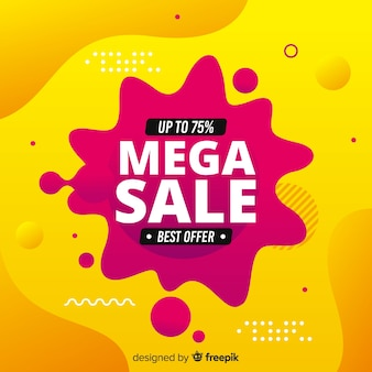 Abstract mega sale flud background