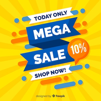 Abstract mega sale promotion banner