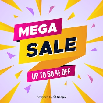 Abstract mega sale promotion