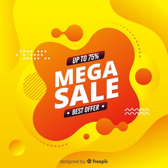 Abstract mega sale yellow background