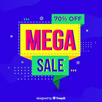 Abstract mega sales background flat design