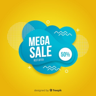 Abstract mega sales background