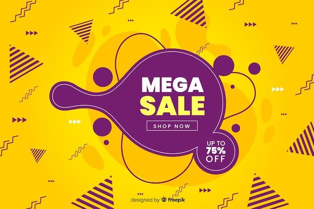 Abstract mega sales liquid background