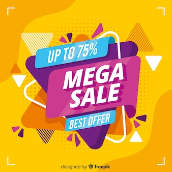 Abstract mega sales promotion