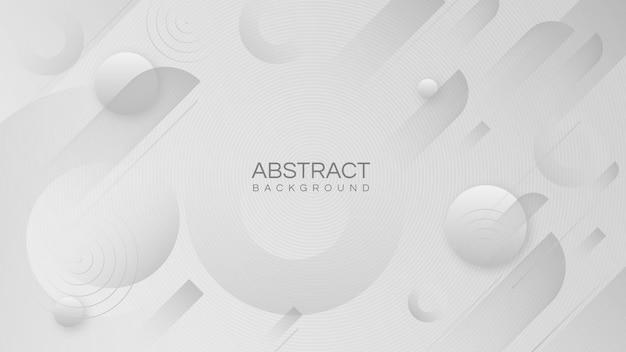 추상 멤피스 기하학적 모양 흰색 동그라미와 현대 최소한의 배경