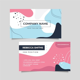 Abstract memphis painted company card
