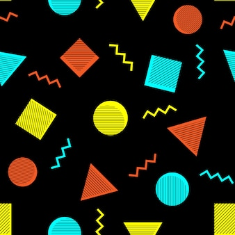 Abstract memphis style seamless pattern