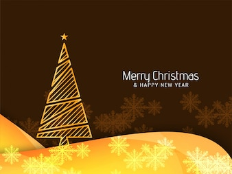 Abstract Merry Christmas beautiful background with tree