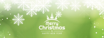 Abstract Merry Christmas decorative banner template