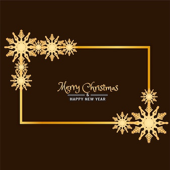 Abstract Merry Christmas decorative frame background