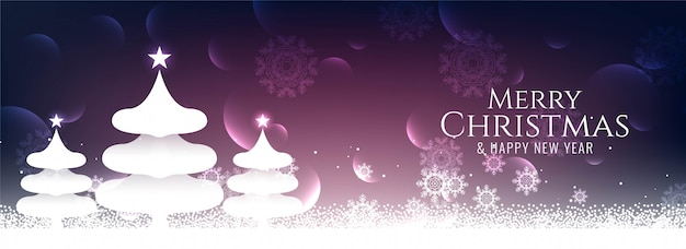 Abstract merry christmas elegant festival banner