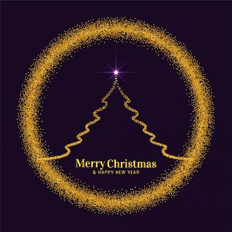 Abstract Merry Christmas festival glitters background
