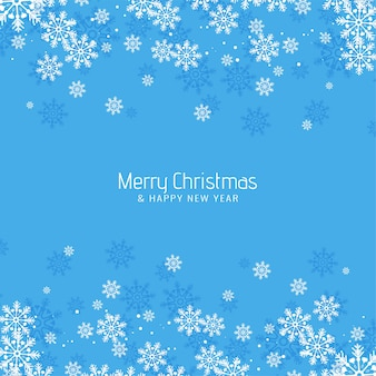 Abstract merry christmas greeting blue background
