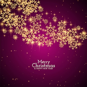 Abstract merry christmas greeting snowflakes background