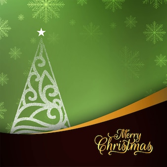 Abstract Merry Christmas stylish green background