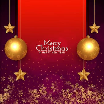 Abstract merry christmas stylish greeting background